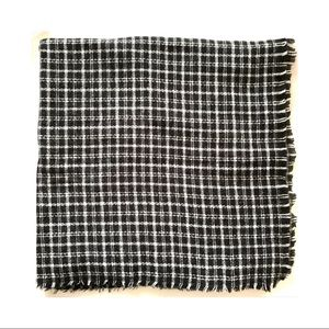 Zara Black Check Blanket Scarf